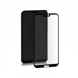 Qoltec Hybrid Glass Screen Protector for Huawei P20 Lite | Black | Full Covered